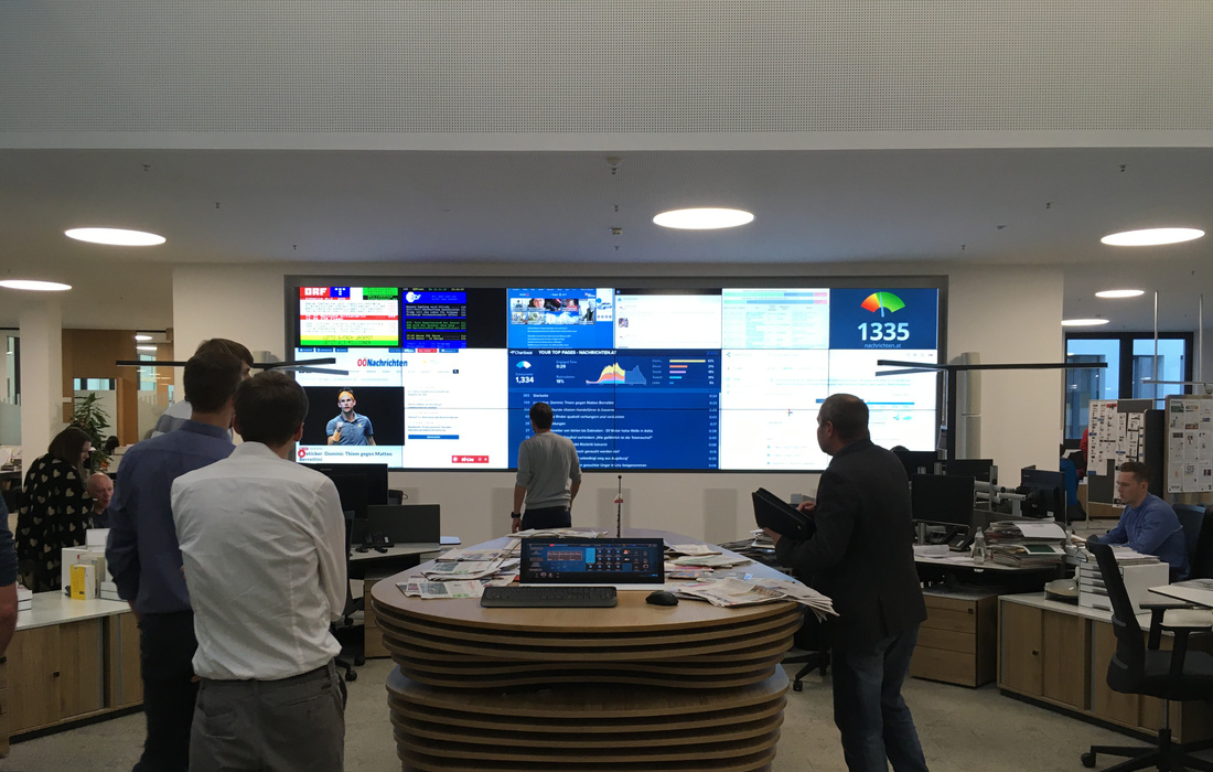 Visit of OÖNachrichten News Room
